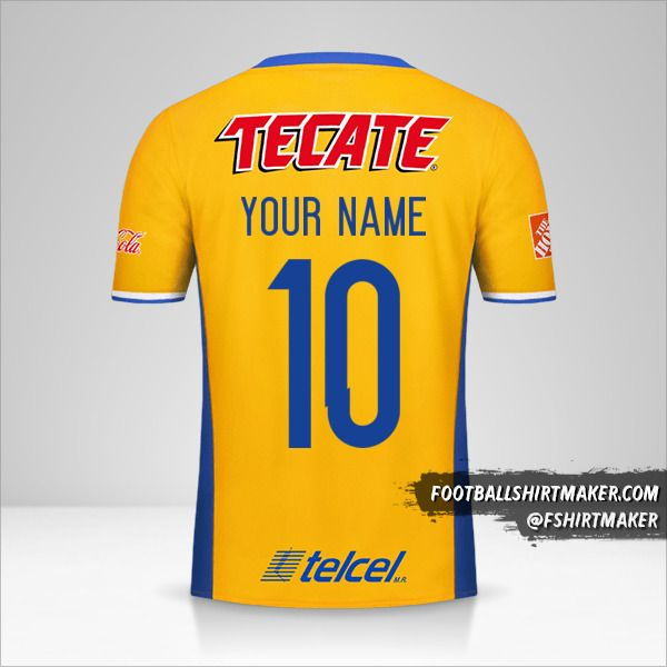Tigres UANL 2016/17 shirt number 10 your name