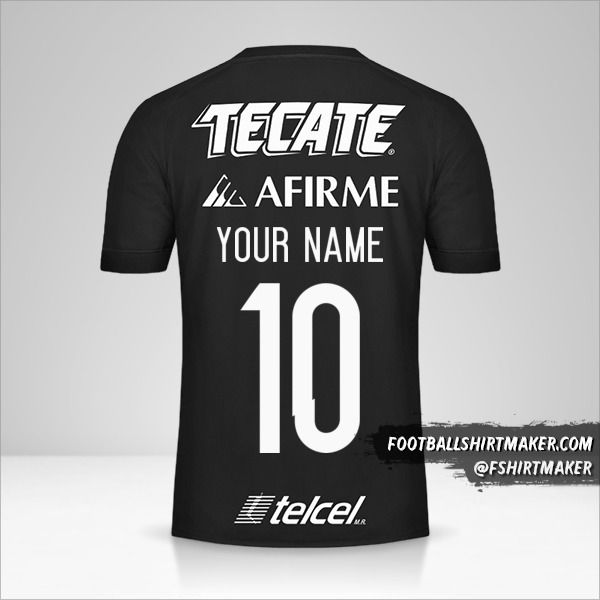 Tigres UANL 2017 III shirt number 10 your name