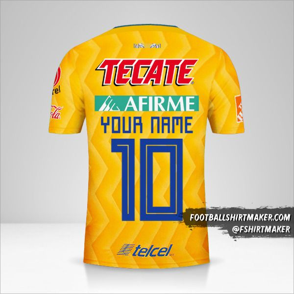 Tigres UANL 2018/19 shirt number 10 your name