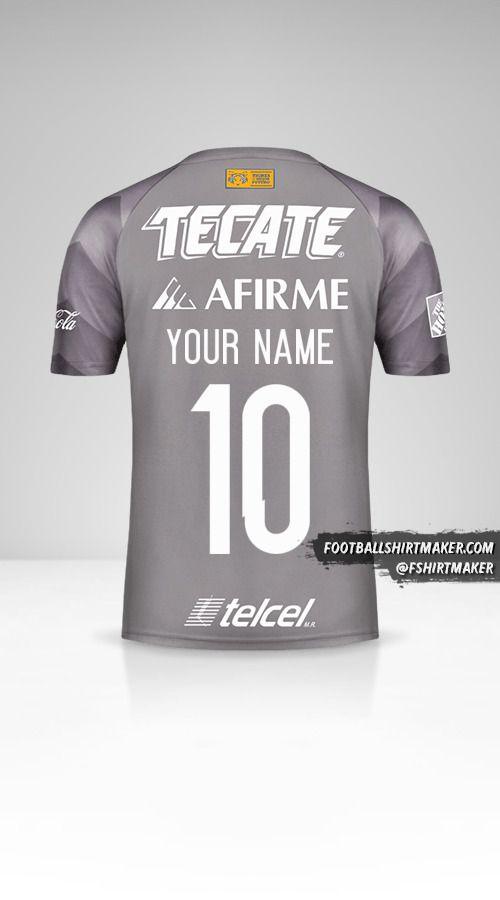 Tigres UANL 2018 III shirt number 10 your name