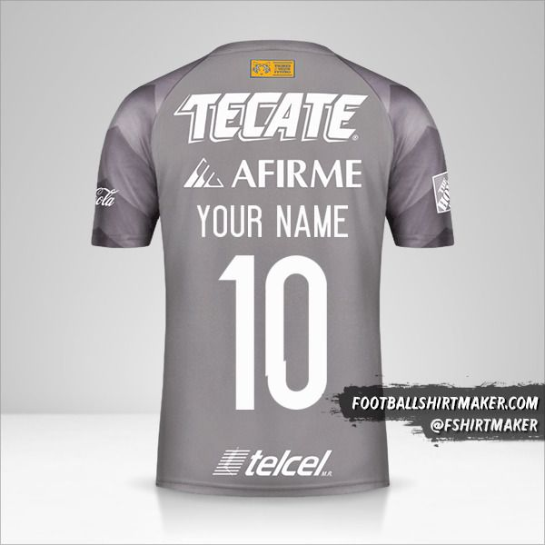 Tigres UANL 2018 III shirt number 10 your name