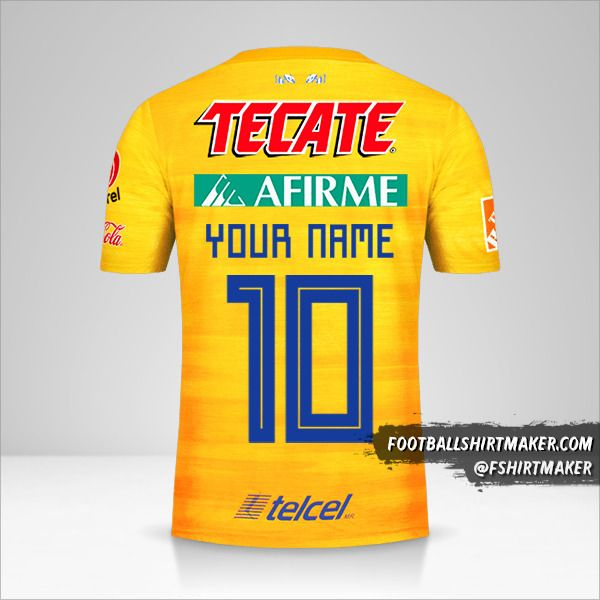 Tigres UANL 2019/20 shirt number 10 your name