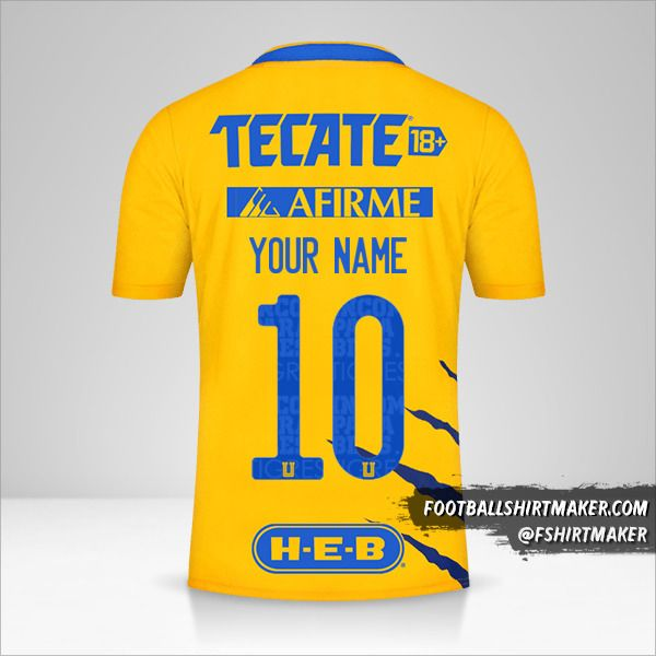 Tigres UANL 2021/2022 shirt number 10 your name