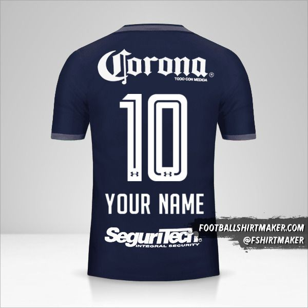 Toluca FC 2017/18 III shirt number 10 your name