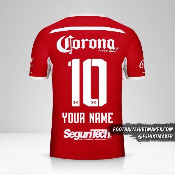Toluca FC 2018/19 shirt number 10 your name