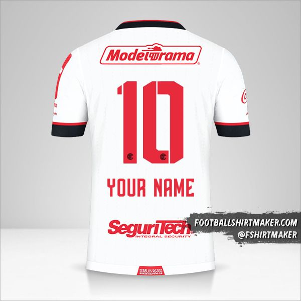 Toluca FC 2021 II shirt number 10 your name