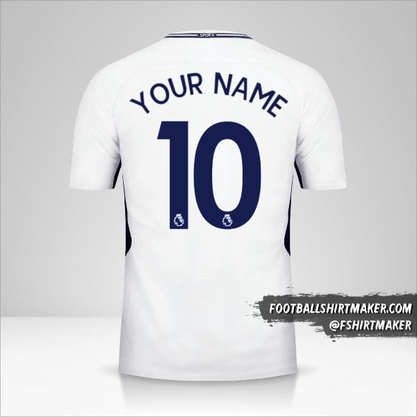 Tottenham Hotspur 2017/18 shirt number 10 your name
