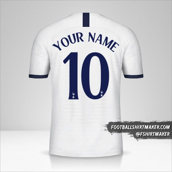 Tottenham Hotspur shirt 2019/20 Cup number 10 your name