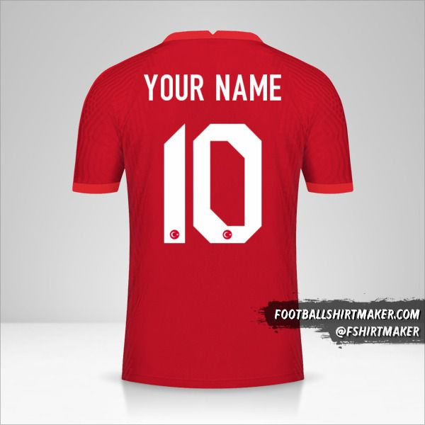 Turkey 2020/2021 II shirt number 10 your name