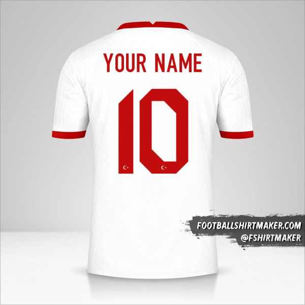 Turkey 2020/2021 shirt number 10 your name