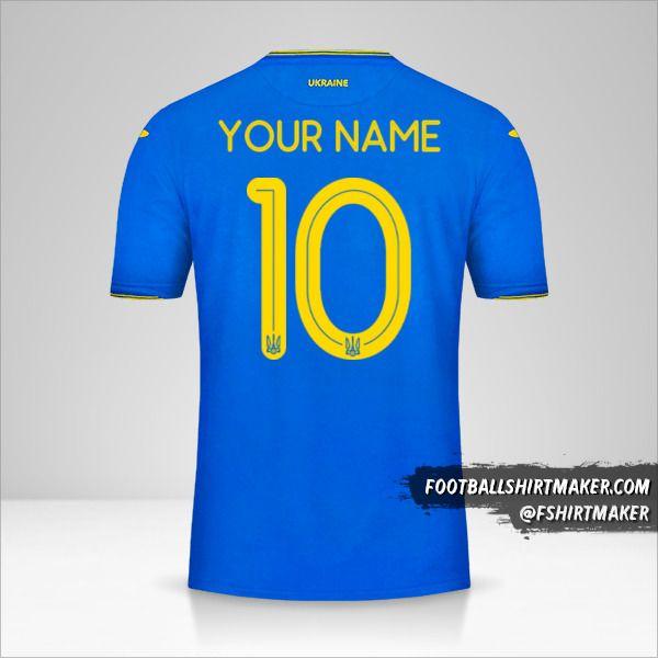 Ukraine 2018/19 II shirt number 10 your name
