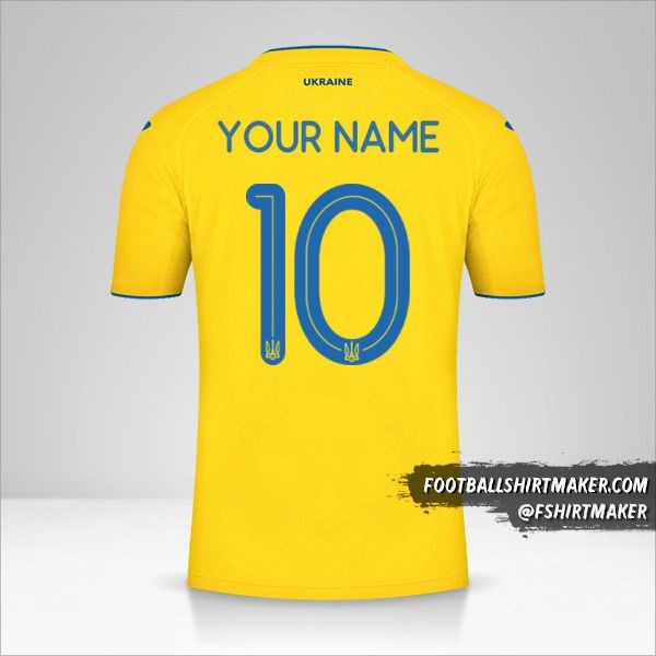 Ukraine 2020 shirt number 10 your name