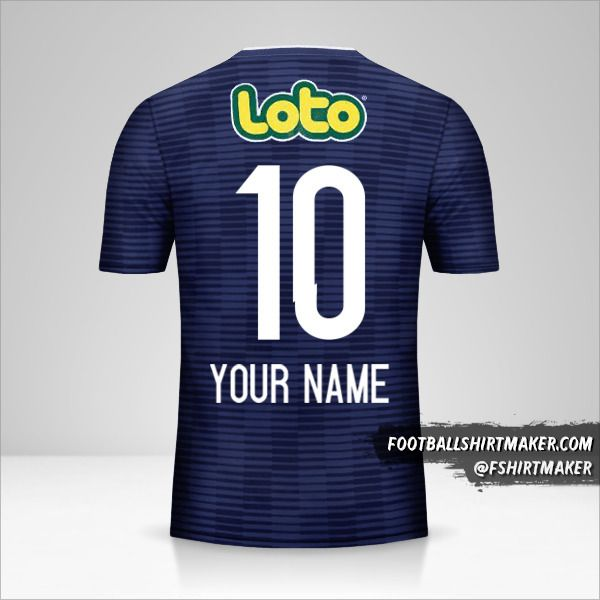Universidad de Chile 2017/18 shirt number 10 your name