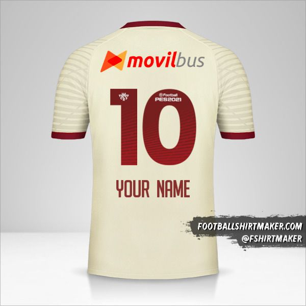 Universitario 2020 shirt number 10 your name