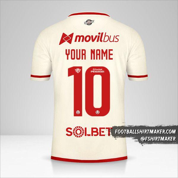 Universitario 2021 shirt number 10 your name