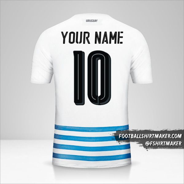 Uruguay 2016 II shirt number 10 your name