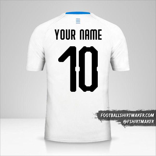 Uruguay 2018 II shirt number 10 your name