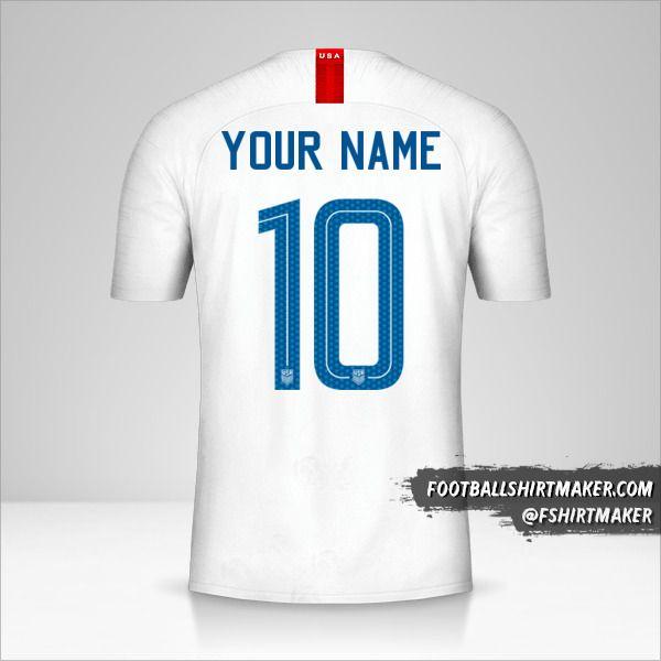 USA 2018 shirt number 10 your name