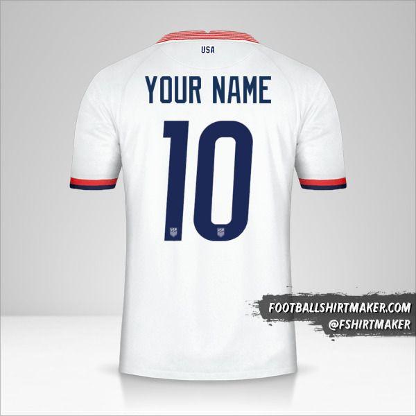 USA 2020 shirt number 10 your name