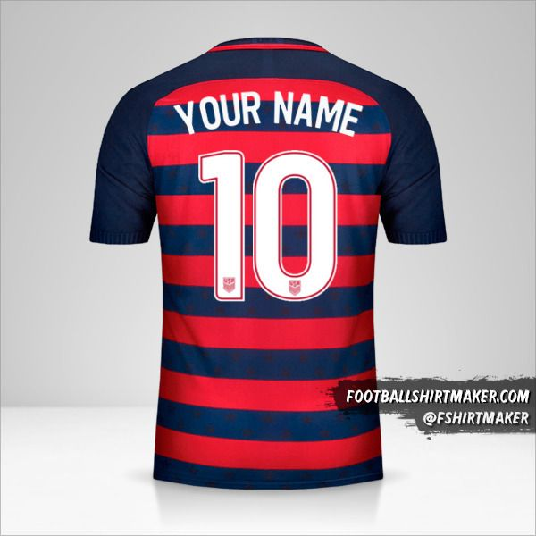 USA Gold Cup 2017 shirt number 10 your name