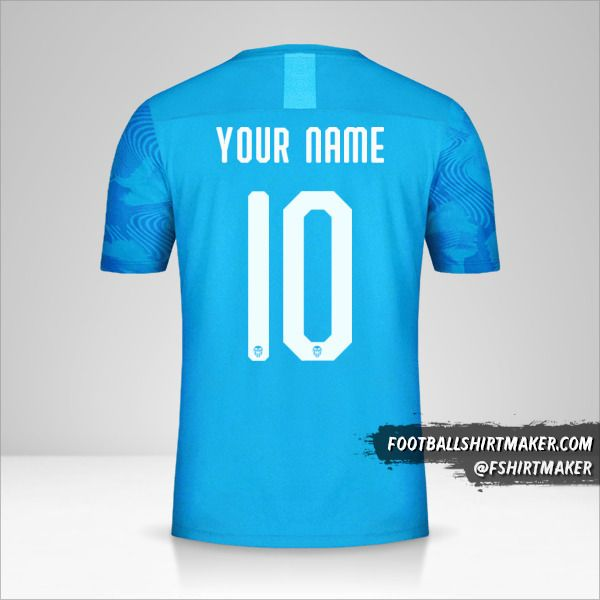Valencia CF 2019/20 Cup III shirt number 10 your name