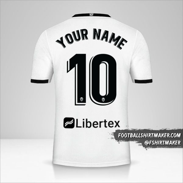 Valencia CF 2020/21 shirt number 10 your name
