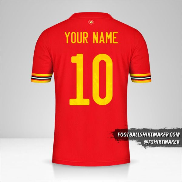 Wales 2020/2021 shirt number 10 your name