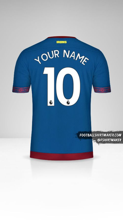 West Ham United FC 2018/19 II shirt number 10 your name