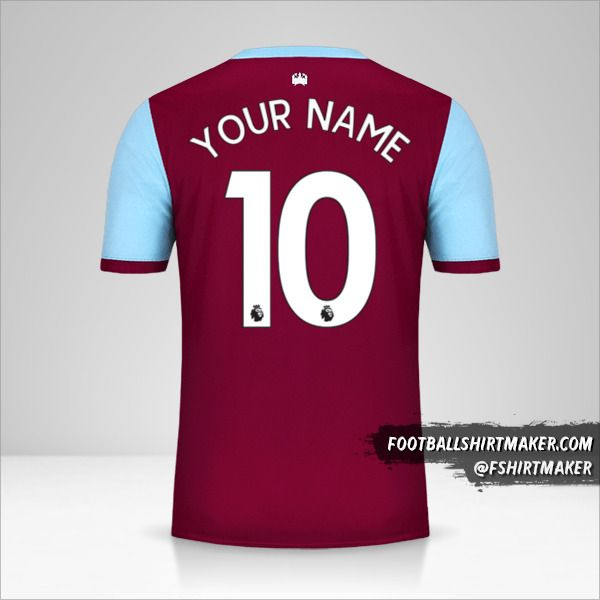 West Ham United FC 2019/20 shirt number 10 your name
