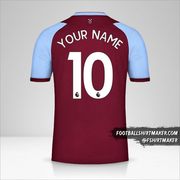 West Ham United FC 2020/21 shirt number 10 your name