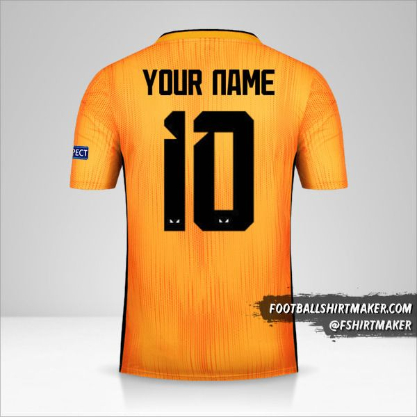 Wolverhampton Wanderers 2019/20 Cup shirt number 10 your name