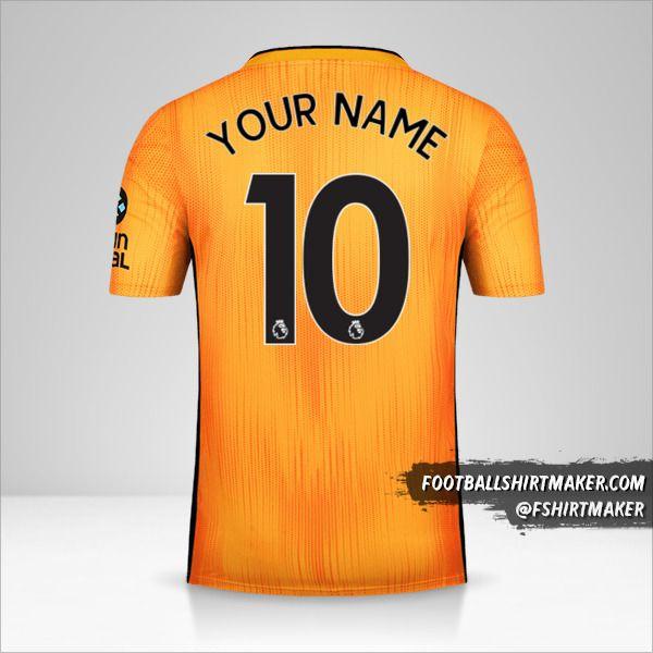 Wolverhampton Wanderers 2019/20 shirt number 10 your name