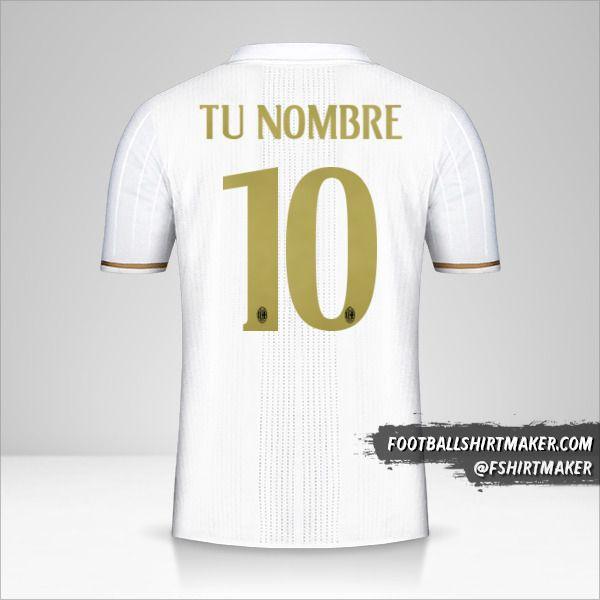 Jersey AC Milan 2016/17 II número 10 tu nombre