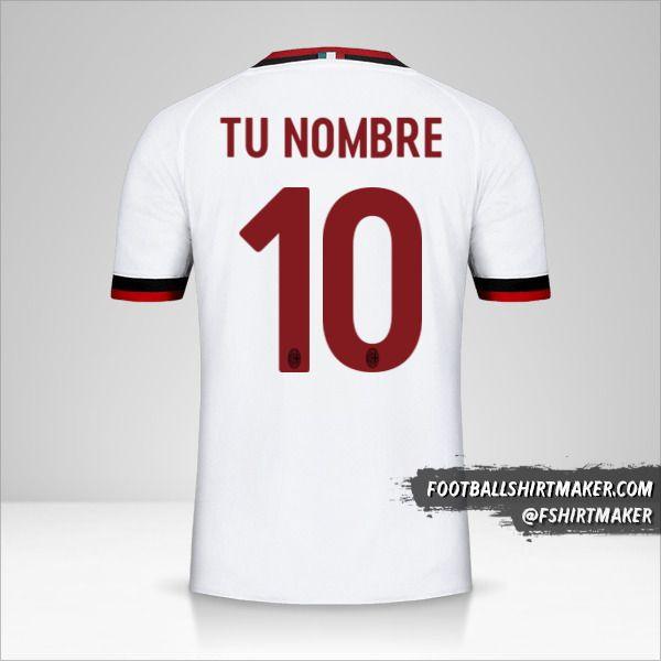 Jersey AC Milan 2017/18 II número 10 tu nombre