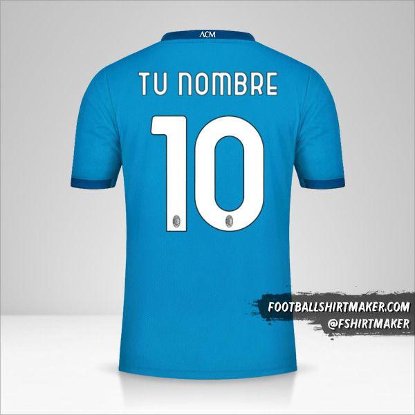 Jersey AC Milan 2020/21 III número 10 tu nombre