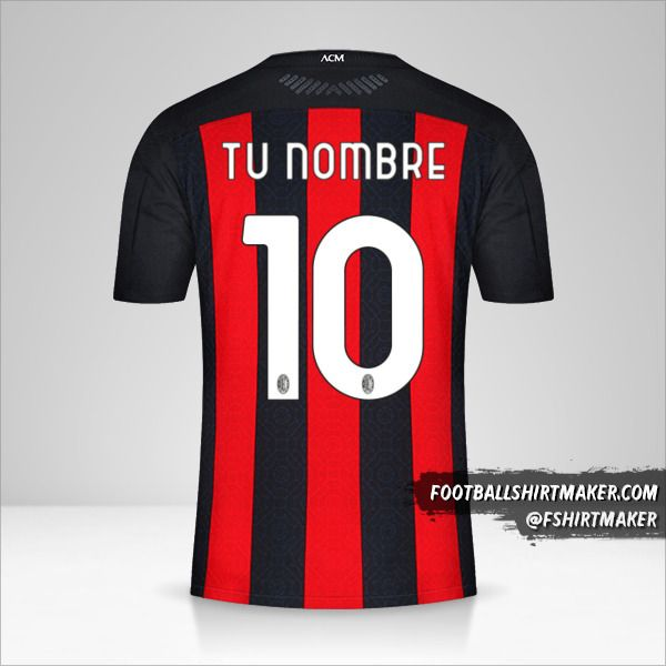 Jersey AC Milan 2020/21 número 10 tu nombre