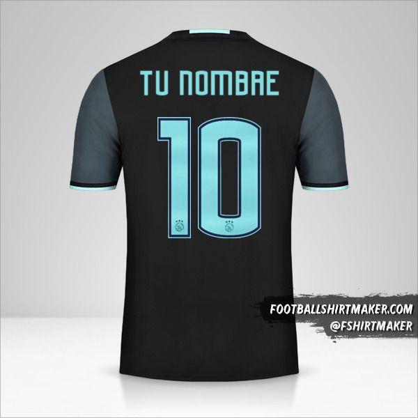 Jersey AFC Ajax 2016/17 II número 10 tu nombre