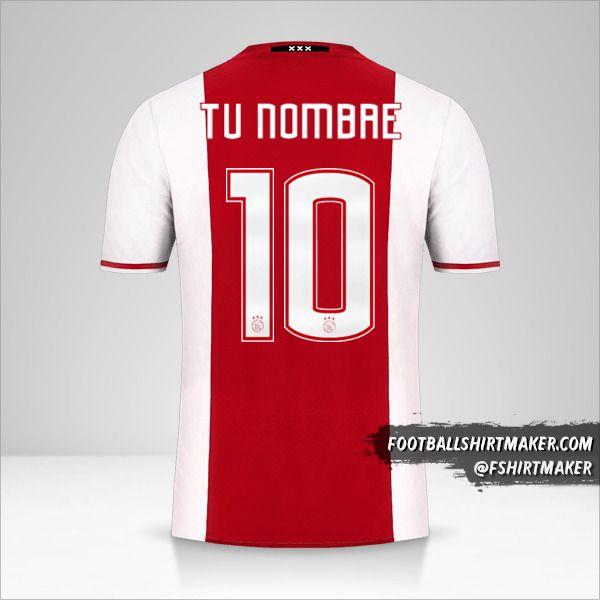 Jersey AFC Ajax 2016/17 número 10 tu nombre