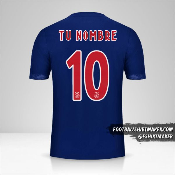 Jersey AFC Ajax 2017/18 II número 10 tu nombre