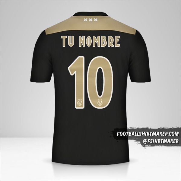 Jersey AFC Ajax 2018/19 II número 10 tu nombre