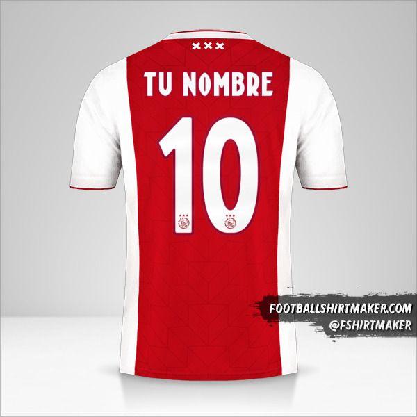 Jersey AFC Ajax 2018/19 número 10 tu nombre