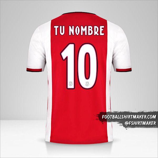 Jersey AFC Ajax 2019/20 número 10 tu nombre