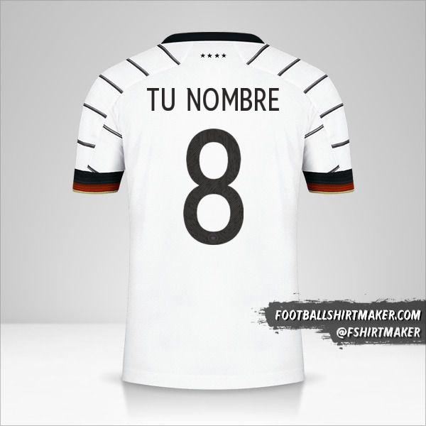 Jersey Alemania 2020/2021 número 8 tu nombre