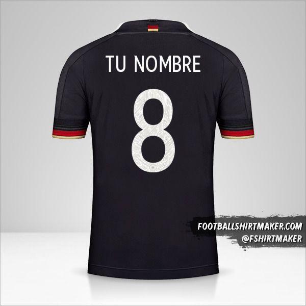 Jersey Alemania 2021 II número 8 tu nombre