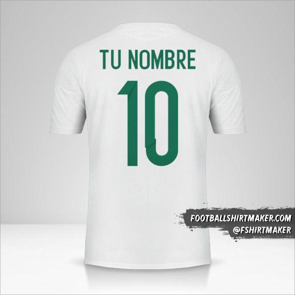 Jersey Argelia 2015 número 10 tu nombre