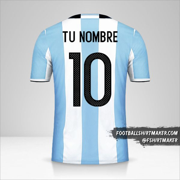 Jersey Argentina 2016 número 10 tu nombre
