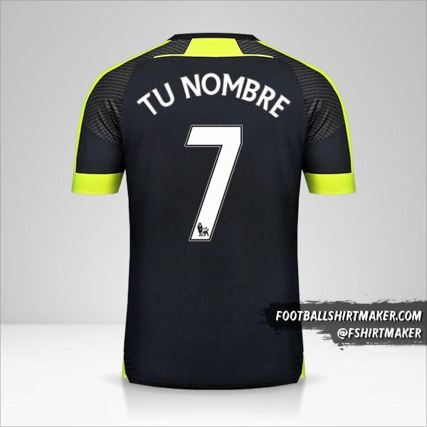 Jersey Arsenal 2016/17 III número 7 tu nombre