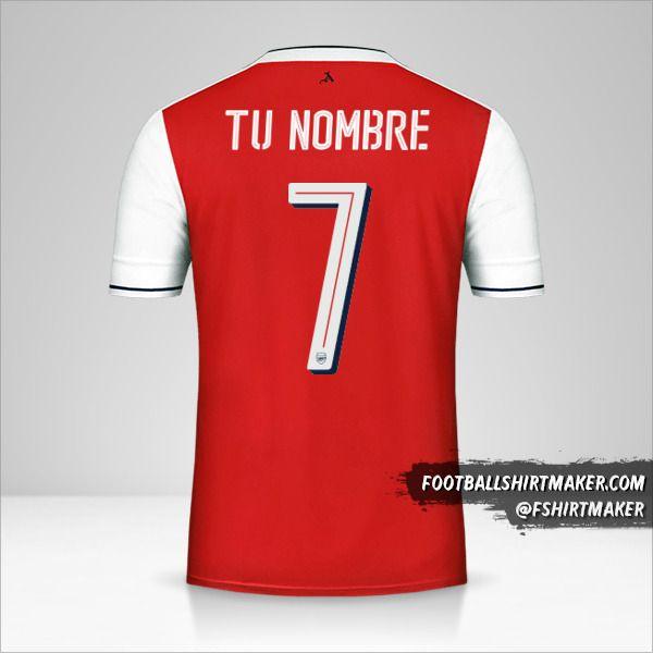Jersey Arsenal 2016/17 Cup número 7 tu nombre