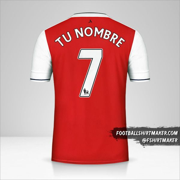 Jersey Arsenal 2016/17 número 7 tu nombre