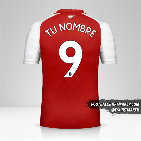 Jersey Arsenal 2017/18 número 9 tu nombre